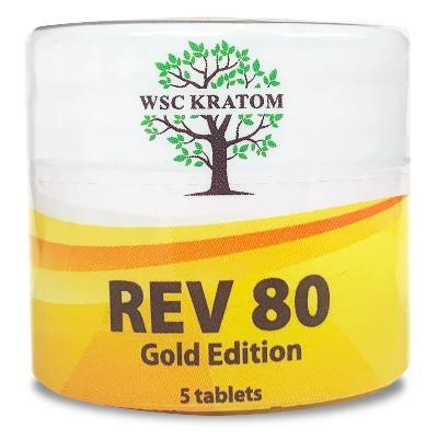 WSC Gold REV80 Chewable Kratom Extract Tablets - Pain Relief