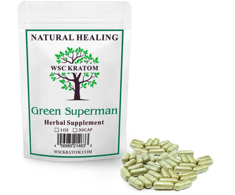 WSC Kratom Green Superman - Best Kratom For Energy