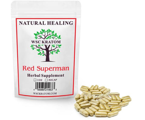 WSC Red Superman Kratom for Sleep & Relaxation