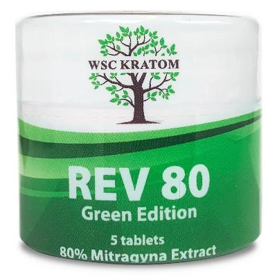 Green REV80 Chewable Kratom Extract Tablets