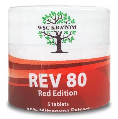 Red REV80 Chewable Kratom Extract Tablets