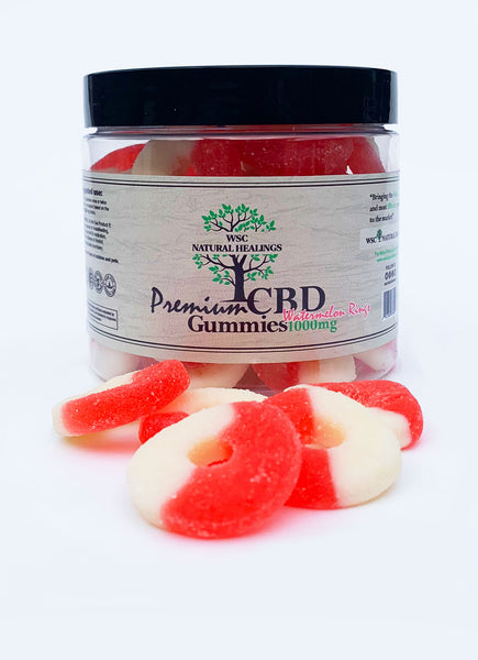 WSC CBD Watermelon Rings Gummies