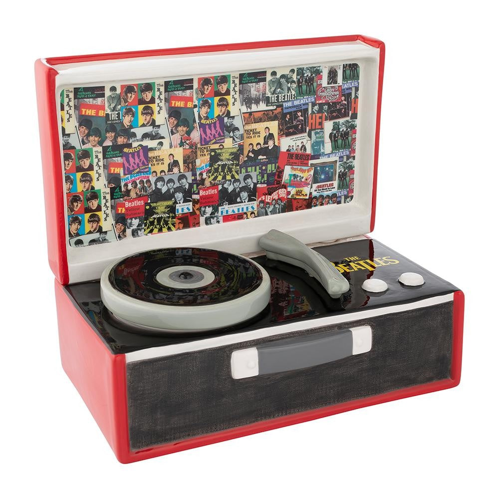 The Beatles Singles Collection Record Player Ceramic Cookie Jar
