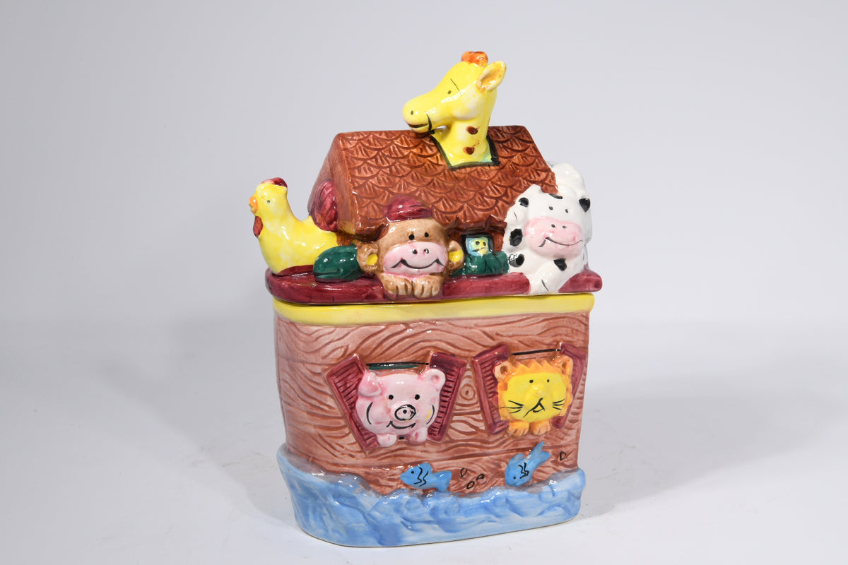 Noah's Ark Ceramic Cookie Jar