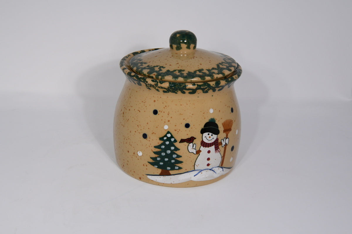 Christmas Tree and Snowman Cookie Jar