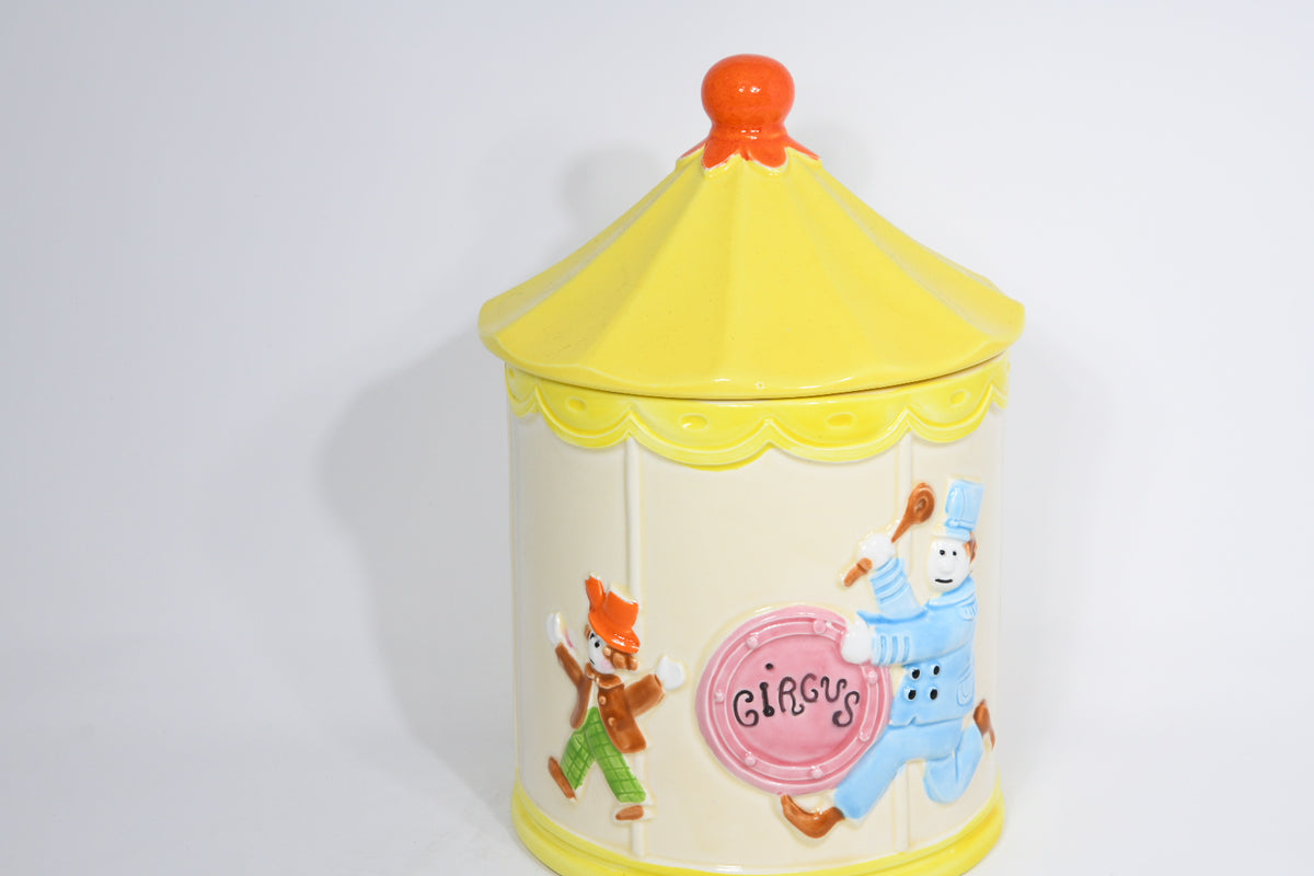 1950's Circus Clowns Tent Cookie Jar