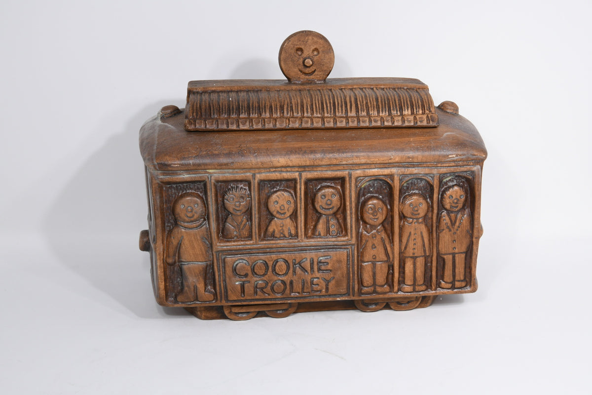 Vintage Trolley Cookie Jar