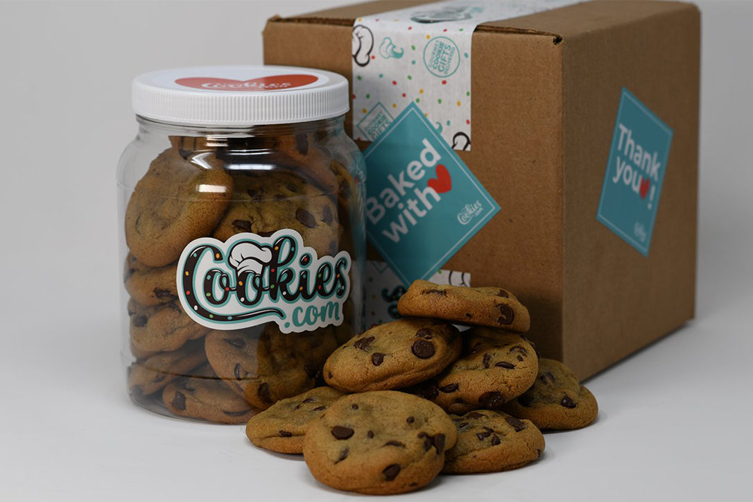 Our famous, irresistibly delicious, Chocolate Chip Cookies!