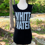 Whitewater Spring Break Block Letters Ladies Tank - Black/Gray