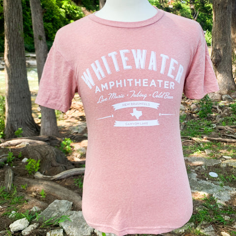 Whitewater Amphitheater Live Music T-Shirt - Panhandle Pink