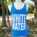 Whitewater Spring Break Block Letters Men's Tank - Electric Blue