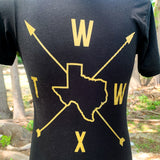 Follow Your Arrow - Compass T-Shirt - Black/Gold