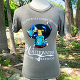Whitewater Sports Tubing T-Shirt - Vintage Olive Green