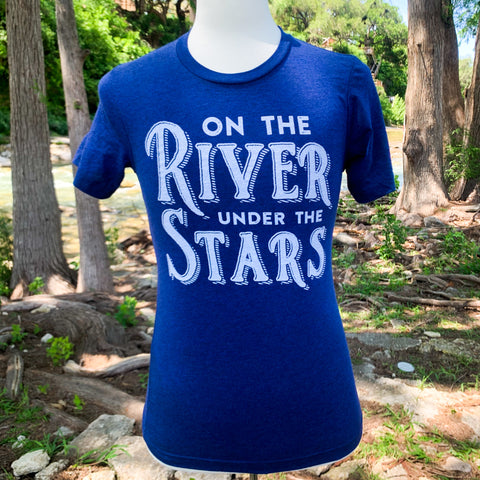 On The River Under The Stars T-Shirt - Midnight Blue