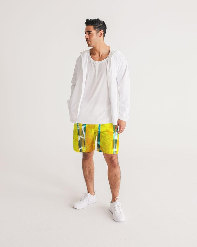 RUDE! Yellow Shorts-Mens Shorts-Yuhtoobright!