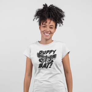 DUPPYBAT! Black Tee - Female Tee - Yuhtoobright!