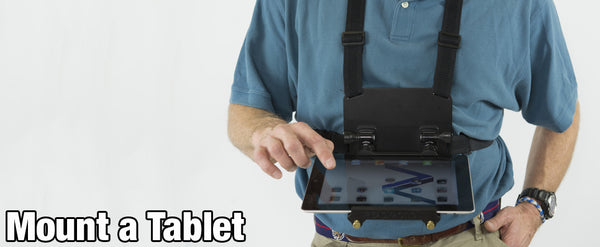 READYACTION Office - Tablet Chest Harness for iPad Air, 9.7, 10.5 Pro, iPad Mini, Surface Pro and Similar Tablets