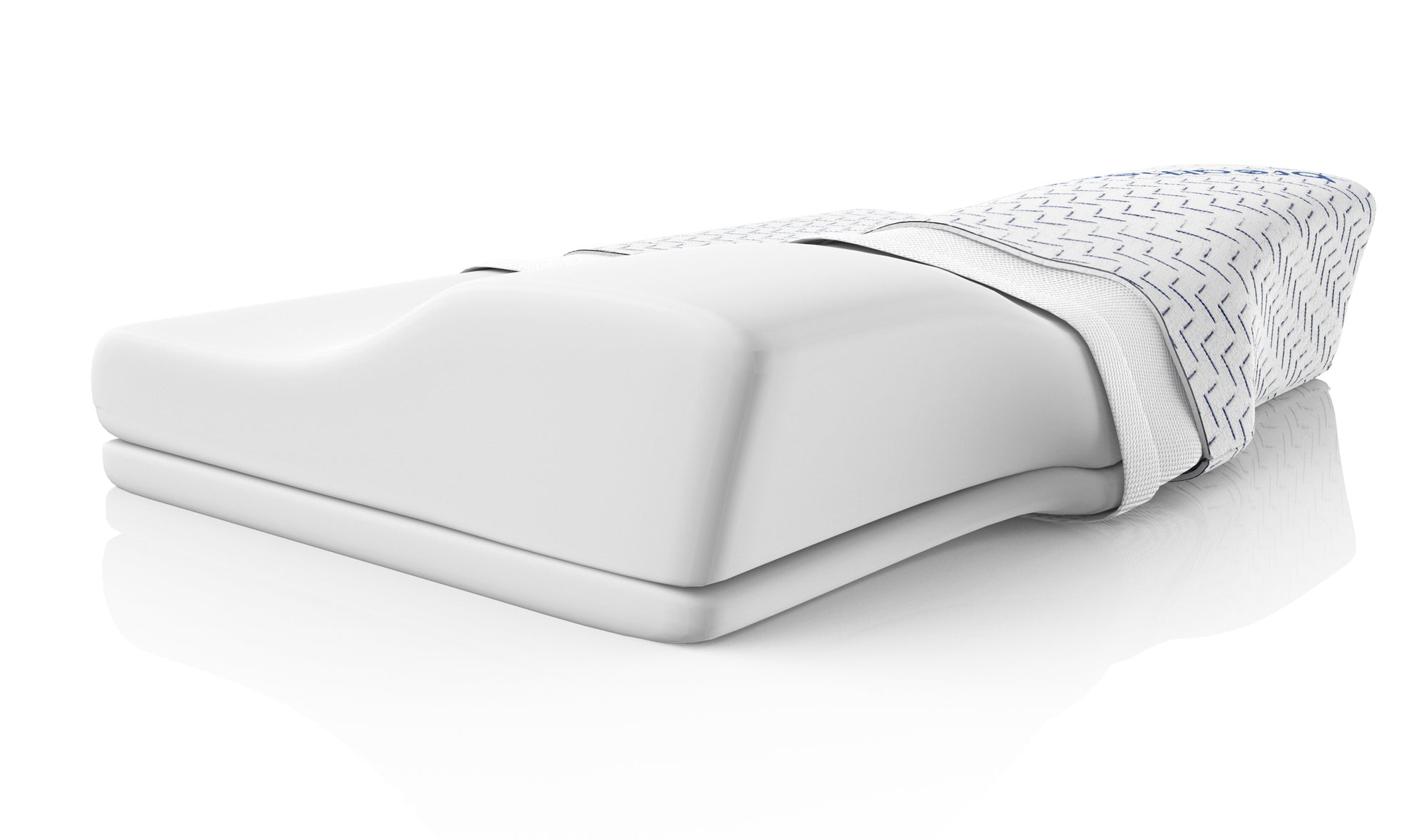 the breatheo contoured memory foam pillow assists your sleep posture during side and back sleeping