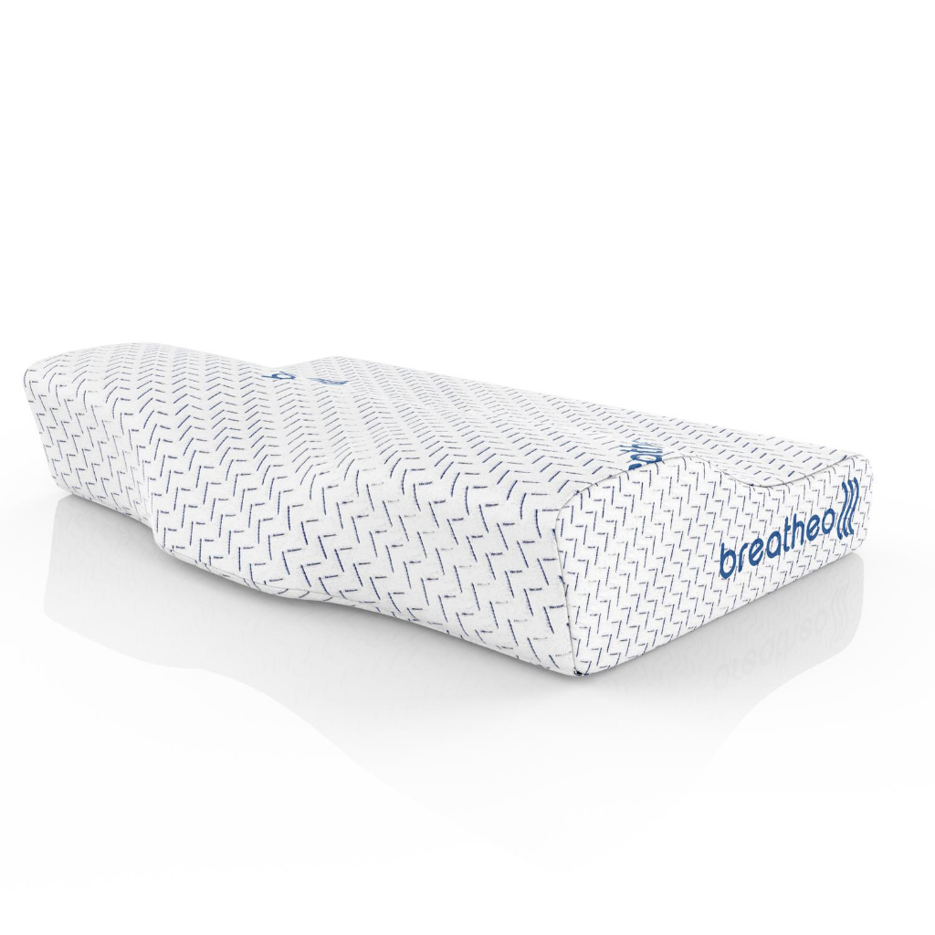 breatheo contoured memory foam pillow
