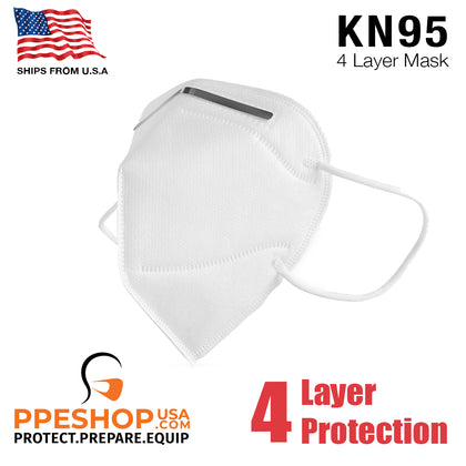 KN95 4 Layer Face Mask 5 Folding Face Masks