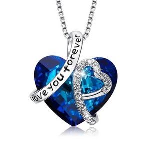 """I love Your Forever"" Crystal Swarovski Necklace"
