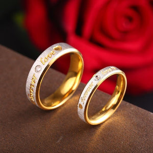 Custom Name Forever Love Wedding Rings