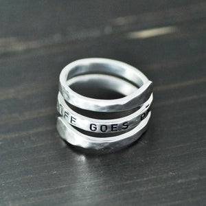 Custom Spiral Name Ring