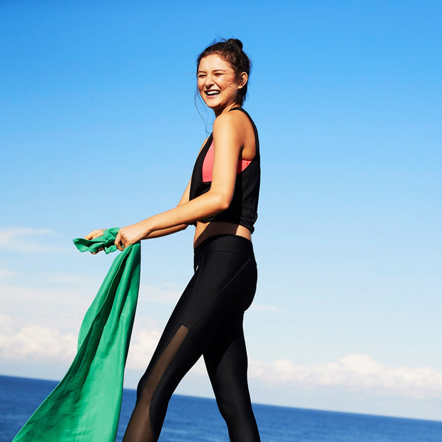 sand free exercise towel to be used at beach