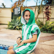 Kids Poncho - Cancun Green