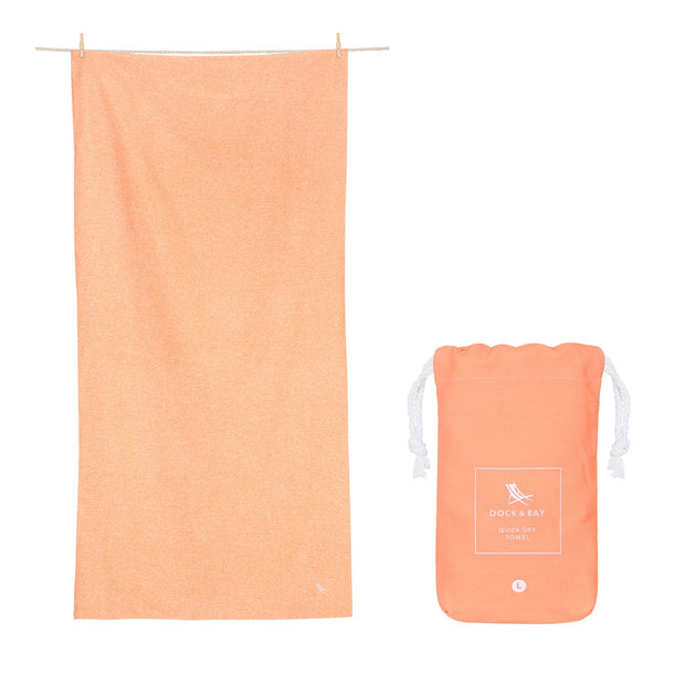gym towel and yoga towels orange quick dry towel with pouch