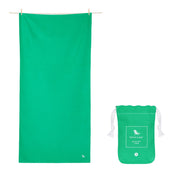 microfiber travel towels green