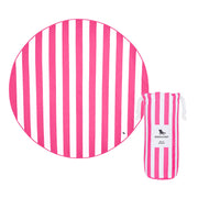 round towel beach blanket pink