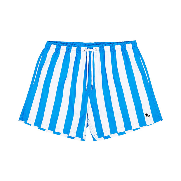 quick dry swim shorts blue front view