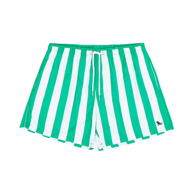 quick dry swim shorts green front view