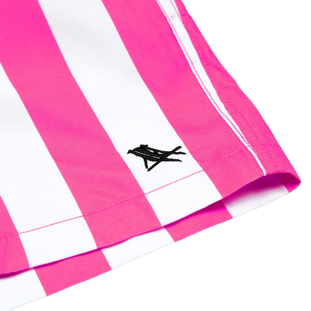 quick dry swim shorts pink close up soft microfiber fabric