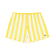 quick dry swim shorts yellow front view