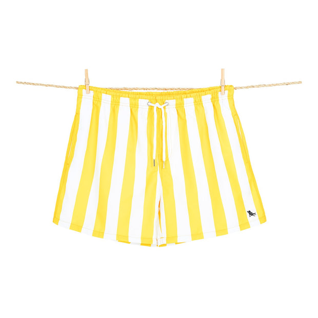 quick dry swim shorts yellow microfiber towel hanging