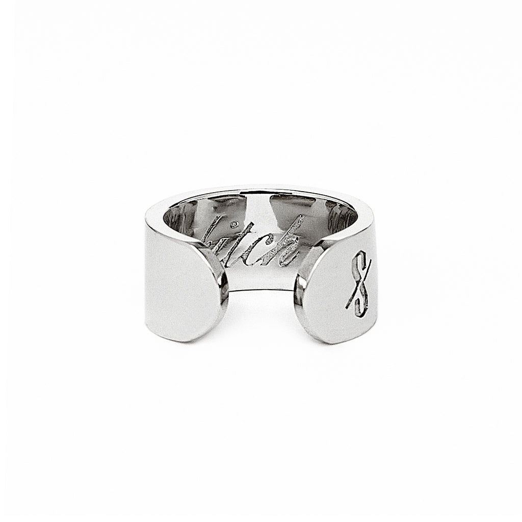 Adjustable Silver Bitch Ring