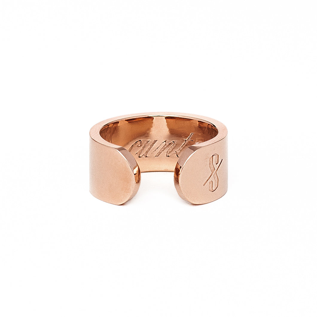 Adjustable Rose Gold Cunt Ring