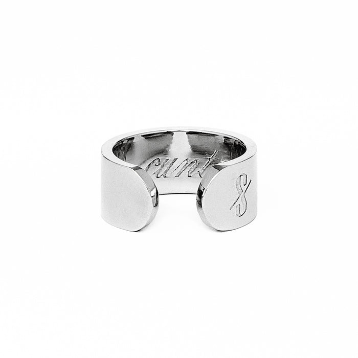 Adjustable Silver Cunt Ring