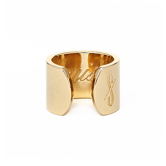 Adjustable 18-Karat Gold Promiscuous and Prude Ring