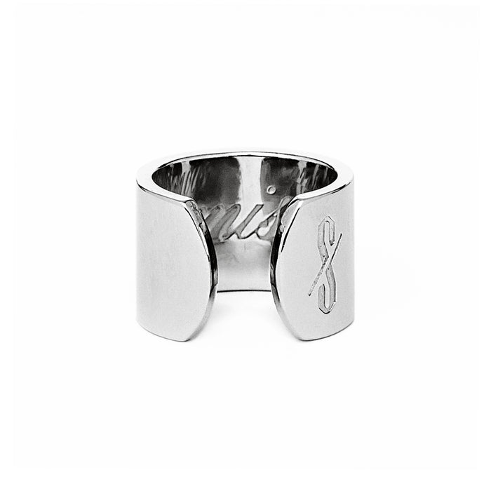 Adjustable Silver Promiscuous and Prude Ring