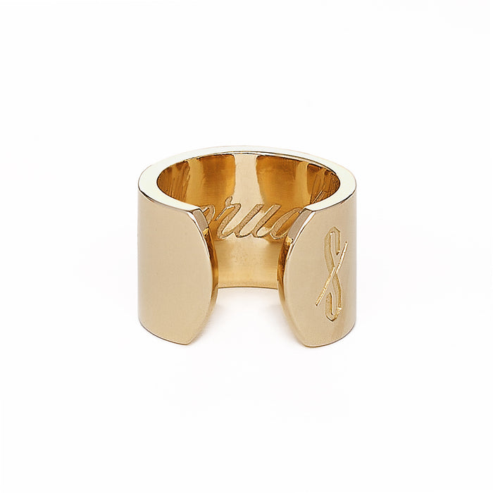Adjustable 18-Karat Gold Prude and Promiscuous Ring