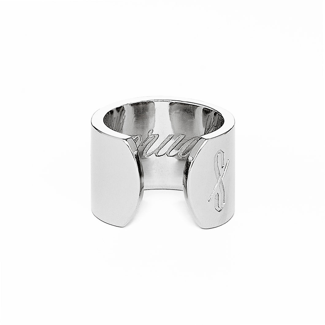 Adjustable Silver Prude and Promiscuous Ring