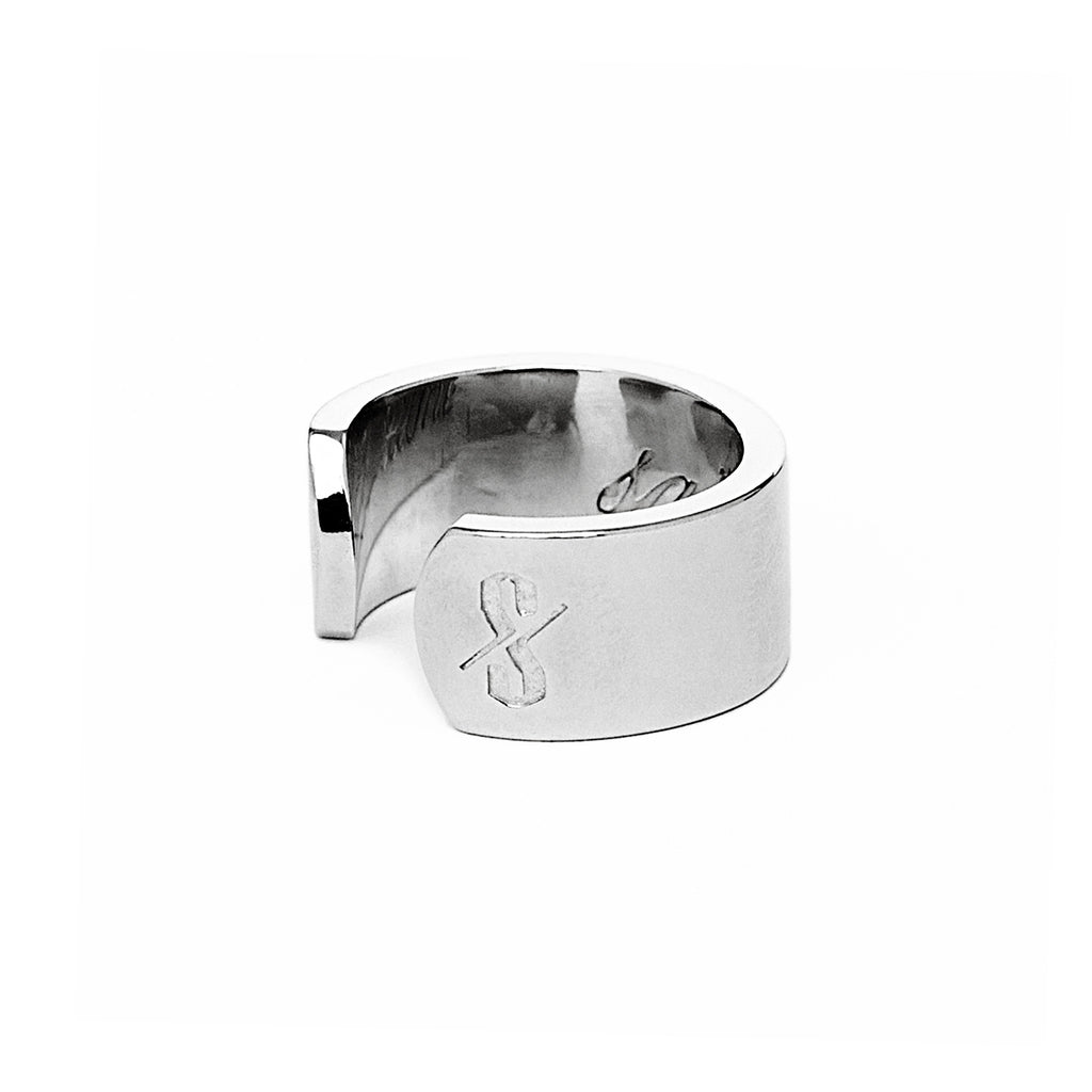 Adjustable Silver Saint and Sinner Ring