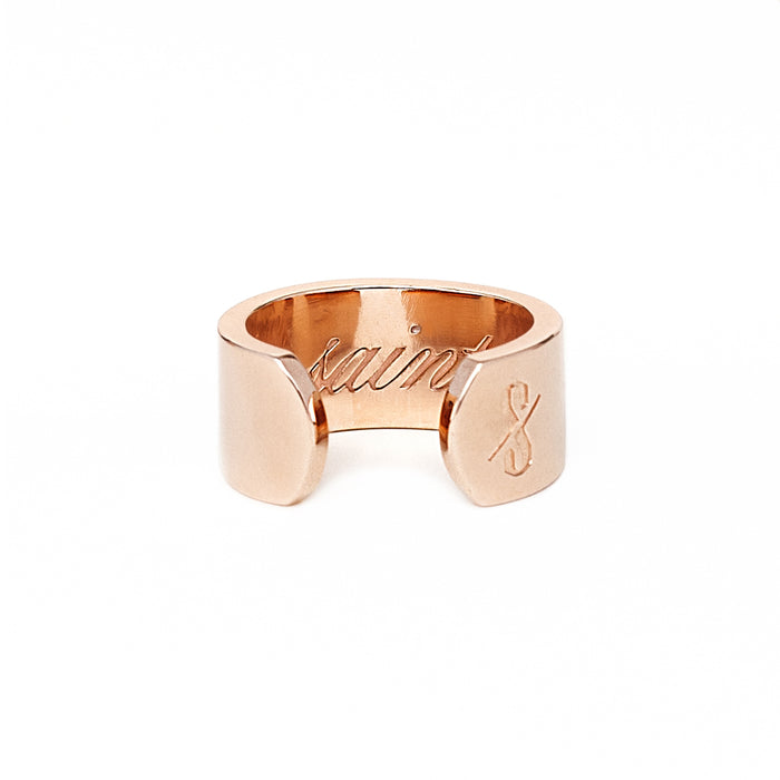 Adjustable Rose Gold Saint and Sinner Ring