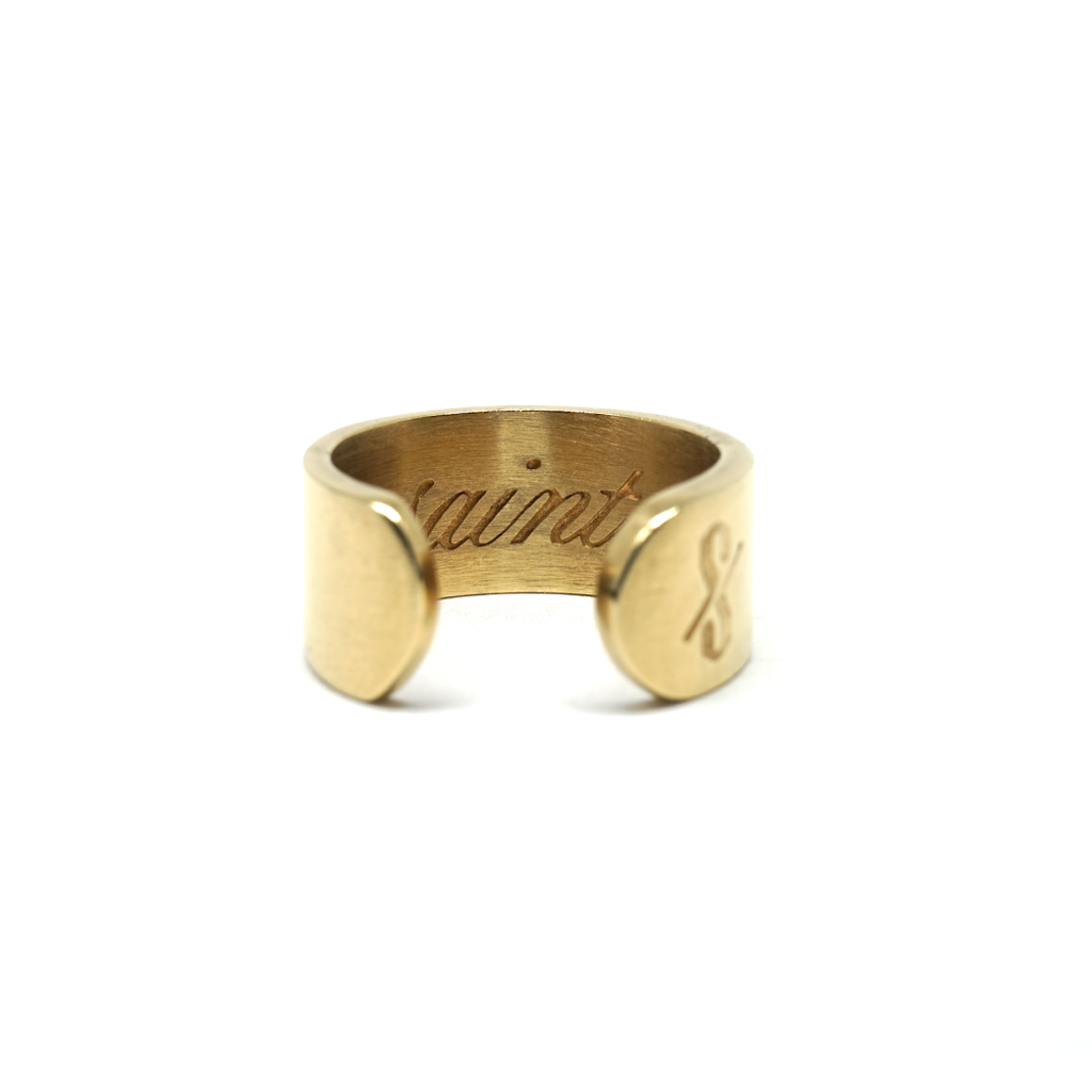 SAINT RING: Matte 18-karat gold