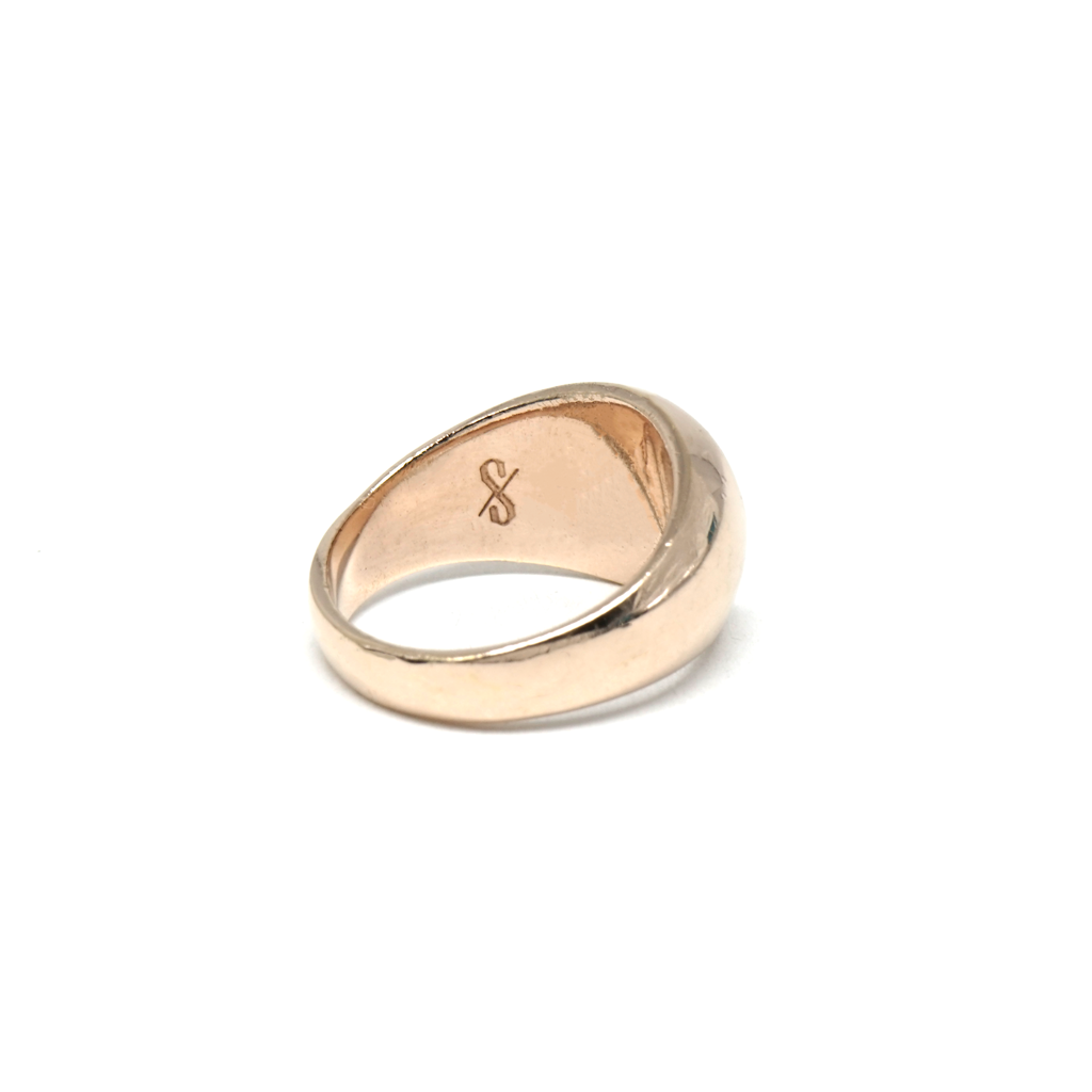 Essential Pinky Signet (18K Rose Gold)