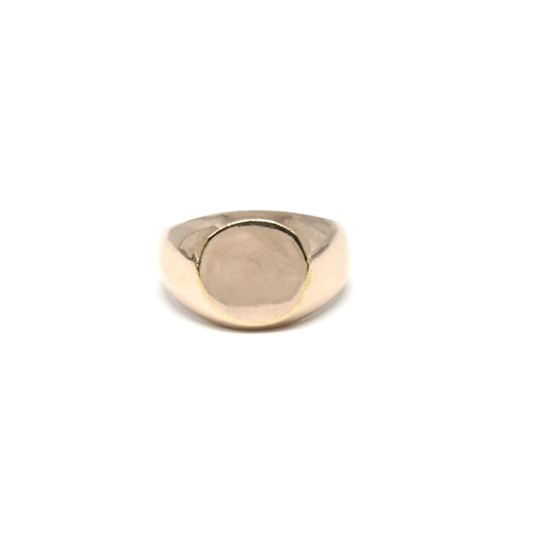 Essential Pinky Signet: Solid 14K Rose Gold