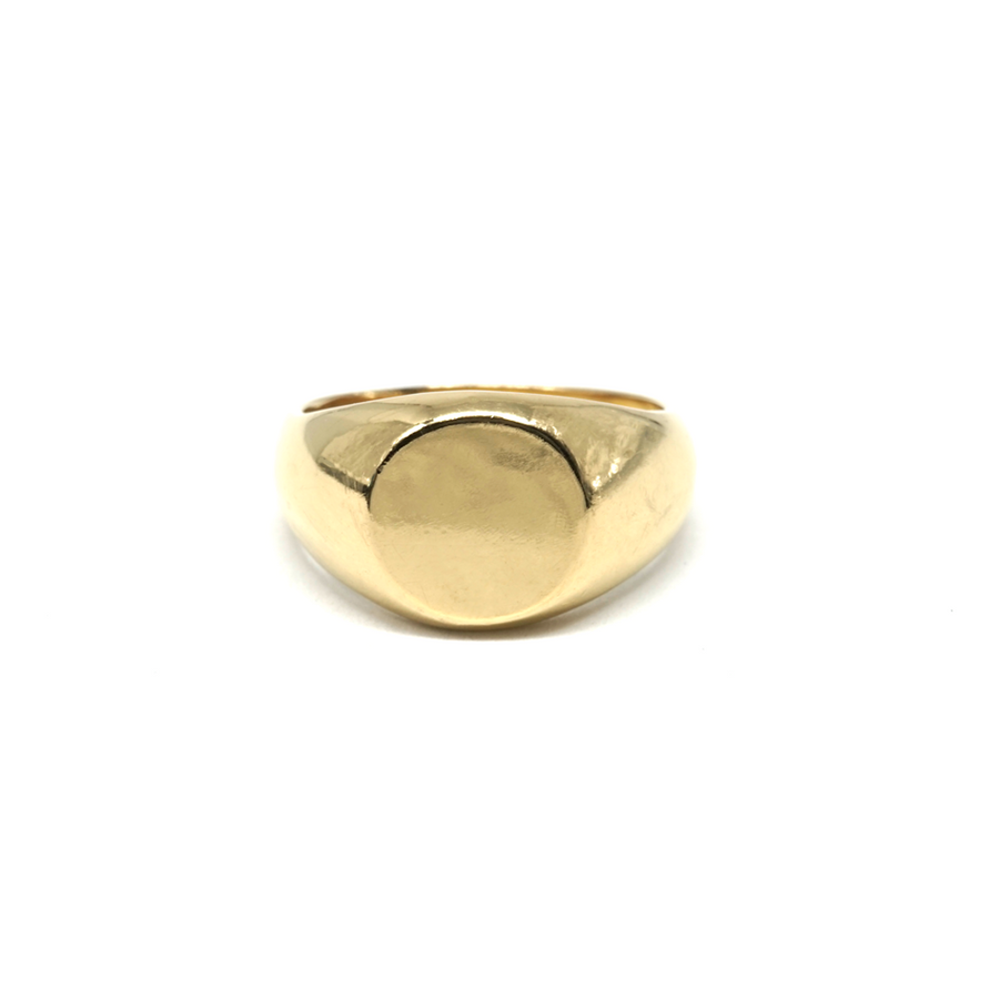Essential Pinky Signet: Solid 14K Yellow Gold